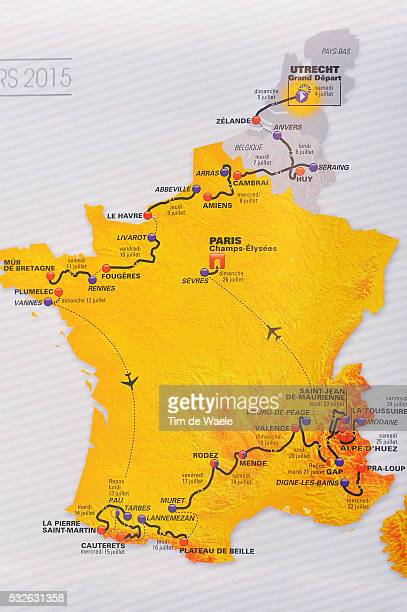 102nd Tour de France 2015 Presentation Illustration Illustratie / Map Carte Kaart Stages Etapes Ritten / TDF Presentatie Ronde / Tim De Waele