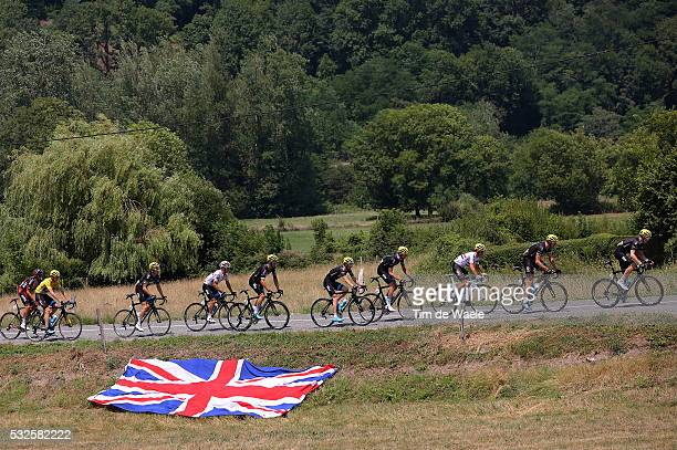 102nd Tour de France / Stage 12 Team Sky / FROOME Christopher Yellow Leader Jersey / KENNAUGH Peter / KONIG Leopold / POELS Wout / PORTE Richie /...