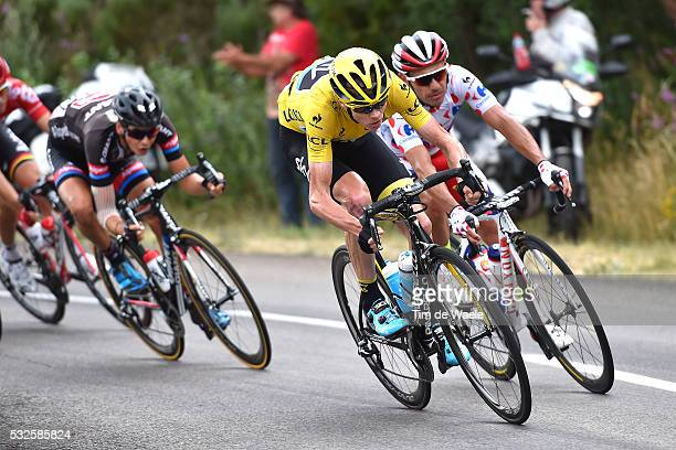 102nd Tour de France / Stage 15 FROOME Christopher Yellow Leader Jersey/ RODRIGUEZ Joaquim Mountain Jersey/ Mende - Valence / Ronde van Frankrijk TDF...