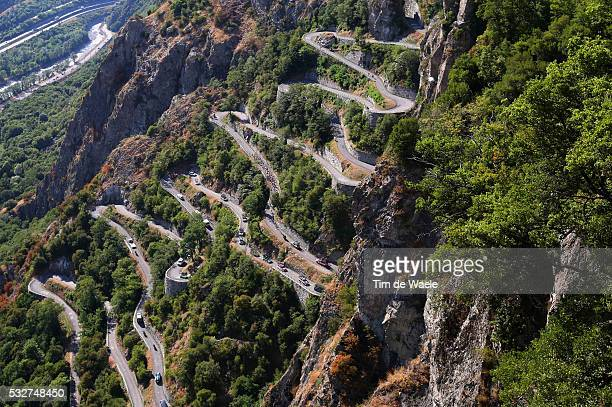 102nd Tour de France / Stage 18 Illustration Illustratie / Peleton Peloton / Lacets de Montvernier Mountains Montagnes Bergen / Landscape Paysage...
