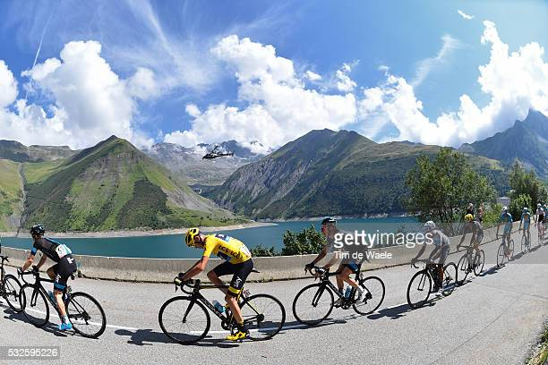 102nd Tour de France / Stage 18 Illustration Illustratie/ Peloton Peleton/ Landscape Paysage/ FROOME Christopher Yellow Leader Jersey/ Lake/ Gap -...