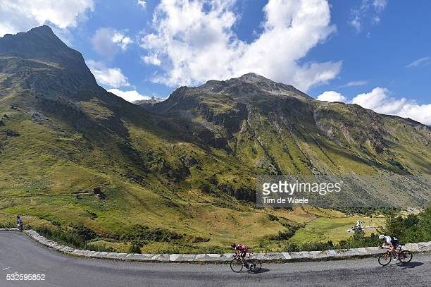 102nd Tour de France / Stage 18 SANCHEZ Samuel / MOLLEMA Bauke / Illustration Illustratie / Col du Glandon Mountains Montagnes Bergen / Landscape...