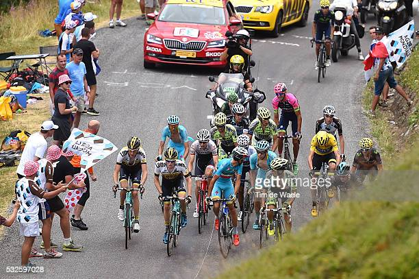 102nd Tour de France / Stage 19 FROOME Christopher Yellow Jersey Technical problem Col de la Croix de Fer 2067m / QUINTANA Nairo Whte Jersey / NIBALI...