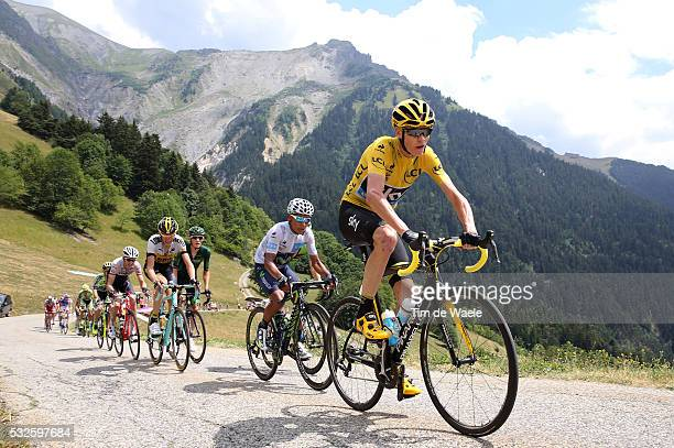 102nd Tour de France / Stage 19 FROOME Christopher Yellow Leader Jersey / QUINTANA Nairo White Young Jersey / Saint-Jean-de-Maurienne - La Toussuire...