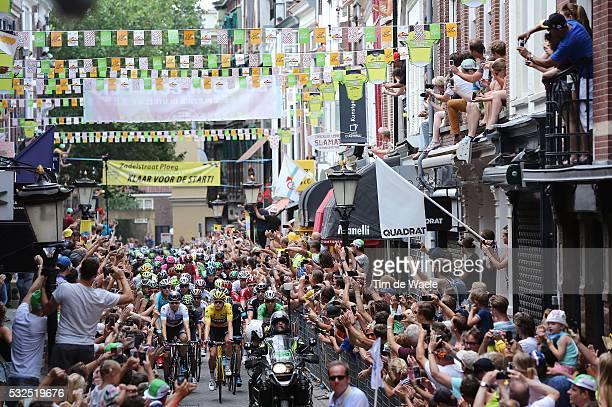 102nd Tour de France / Stage 2 Illustration Illustratie UTRECHT City / / DENNIS Rohan Yellow Leader Jersey / DUMOULIN Tom White Young Jersey / MARTIN...