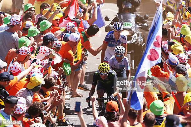 102nd Tour de France / Stage 20 ANACONA Winner / QUINTANA Nairo White Young Jersey / GENIEZ Alexandre / Illustration Illustratie / Fans Supporters...