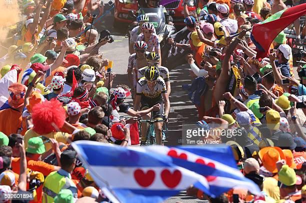 102nd Tour de France / Stage 20 GESINK Robert / KRUIJSWIJK Steven / RODRIGUEZ Joaquim / BARDET Romain Mountain Jersey / Illustration Illustratie /...