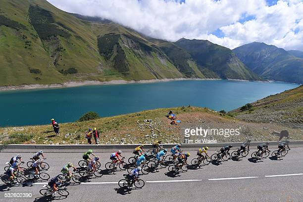 102nd Tour de France / Stage 20 Illustration Illustratie / Peleton Peloton / Col de la Croix de Fer 2067m Mountains Montagnes Bergen / Lake Lac Meer...