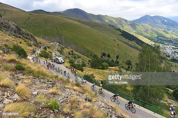 102nd Tour de France / Stage 20 Illustration Illustratie/ Peloton Peleton/ Landscape Paysage/ Mountains Montagnes Bergen/ FROOME Christopher Yellow...
