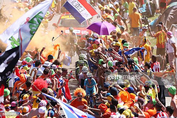 102nd Tour de France / Stage 20 NIBALI Vincenzo / MOLLEMA Bauke / CONTADOR Alberto / MAJKA Rafael / / Fans Supporters Public Publiek Spectators /...
