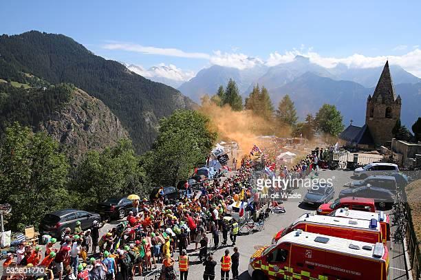 102nd Tour de France / Stage 20 PORTE Richie / FROOME Christopher Yellow Leader Jersey / VALVERDE Alejandro / Illustration Illustratie / Fans...
