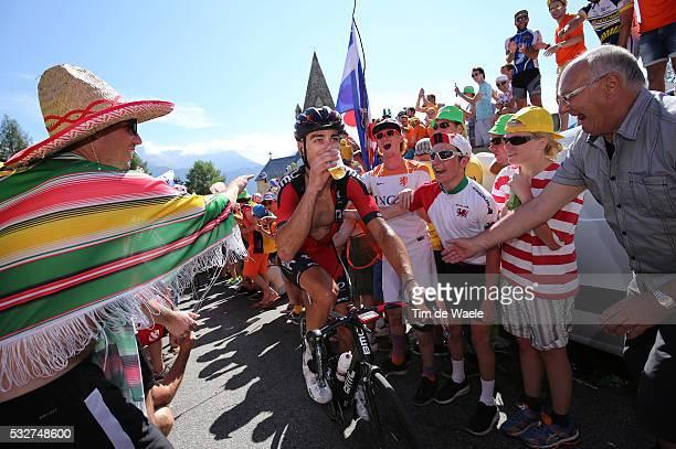 102nd Tour de France / Stage 20 QUINZIATO Manuel / Illustration Illustratie / Fans Supporters Public Publiek Spectators / Alpe D'Huez 1850m / Modane...