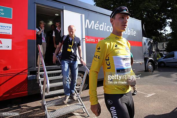 102nd Tour de France / Stage 6 MARTIN Tony Yellow Leader Jersey / Injury Blessure Gewond / Crash Chute Val / Medical Control / Medical Truck / Helge...