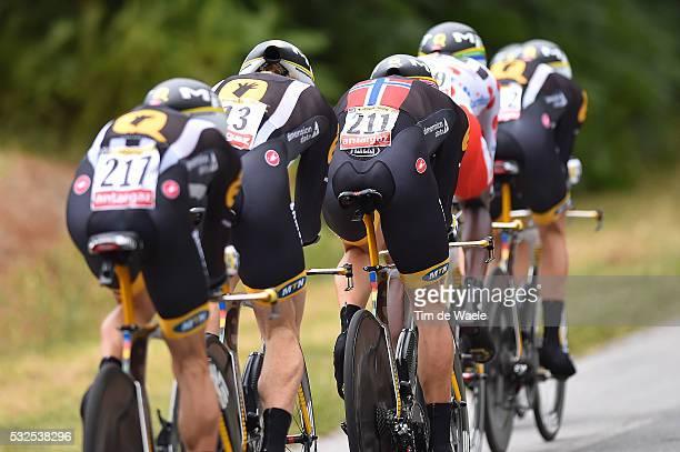 102nd Tour de France / Stage 9 MTN QHUBEKA Team / EKLEHAIMANOT Daniel Mountain Jersey/ Vannes-Plumelec / Team Time Trial / Contre la Montre Equipes /...