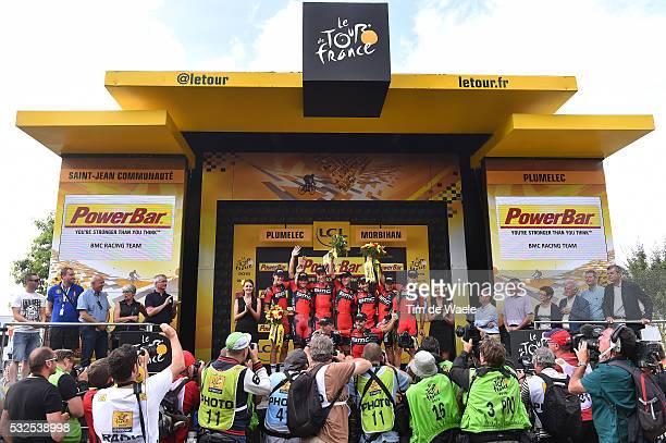 102nd Tour de France / Stage 9 Podium / BMC Racing Team / VAN GARDEREN Tejay / CARUSO Damiano / DENNIS Rohan / OSS Daniel / QUINZIATO Manuel /...