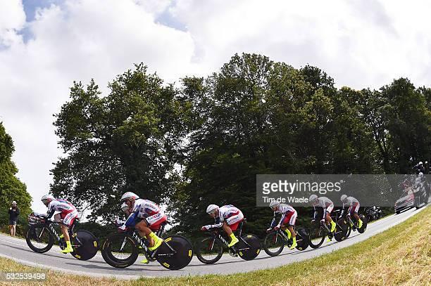 102nd Tour de France / Stage 9 Team Katusha RODRIGUEZ Joaquim / Vannes - Plumelec / Team Time Trial Contre la Montre Equipes Ploegentijdrit TTT /...