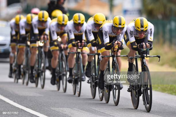 102Nd Tour De France, Stage 9 Team Lotto Nl Jumbo / Steven Kruijswijk /Vannes-Plumelec / Team Time Trial, Contre La Montre Equipes, Ploegentijdrit,...