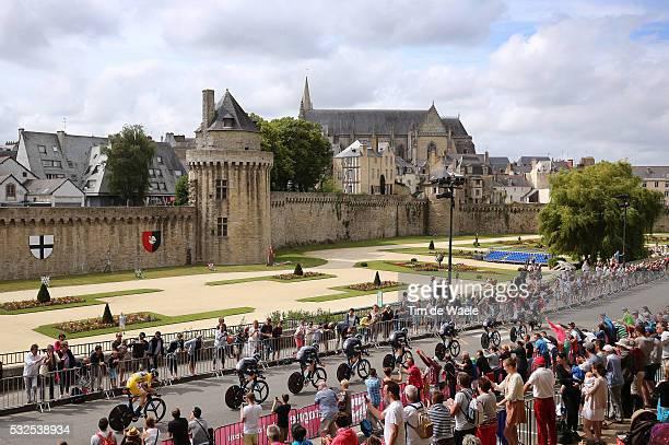 102nd Tour de France / Stage 9 Team Sky / FROOME Christopher Yellow Leader jersey / VANNES City Castle Walls Landscape Paysage Landschap / Landscape...
