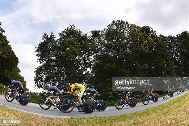 102nd Tour de France / Stage 9 Team Sky FROOME Christopher Yellow Leader jersey / Vannes - Plumelec / Team Time Trial Contre la Montre Equipes...