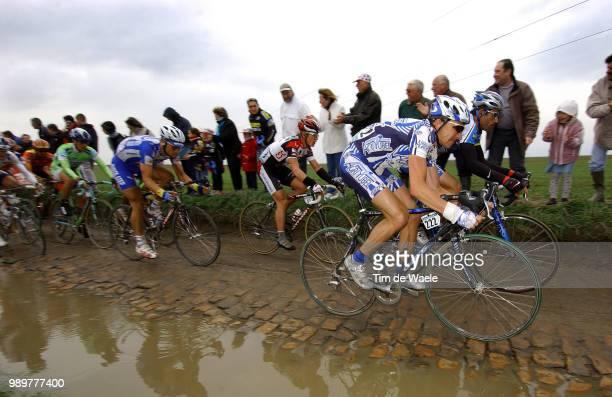 Th Paris- Roubaix Agnolutto Christophe , Hincapie George , Boonen Tom , Breschel Matti Uci Pro Tour, Parijs