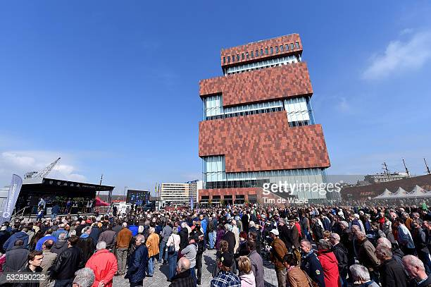 103th Scheldeprijs 2015 Illustration Illustratie / Start Departure / Antwerpen City Peleton Peloton / MAS Museum Bridge / Public Publiek Spectators...