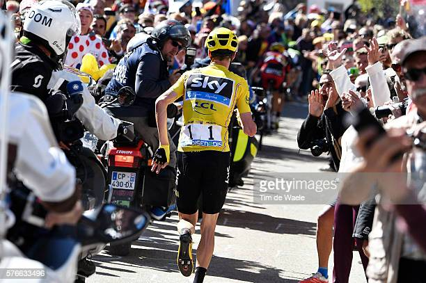 103th Tour de France 2016 / Stage 12 Christopher FROOME Yellow Leader Jersey / Broken Bike / Mechanical Problem / Montpellier Mont Ventoux / Chalet...