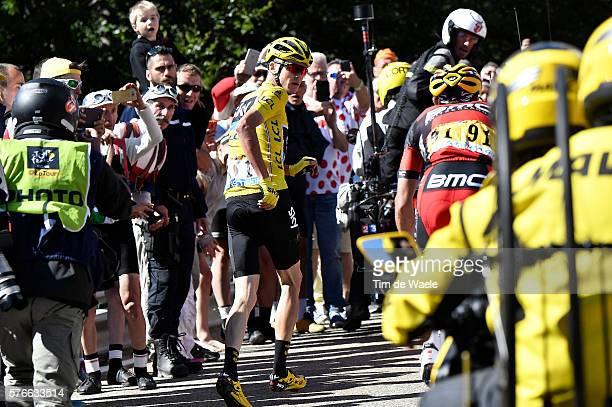 103th Tour de France 2016 / Stage 12 Christopher FROOME Yellow Leader Jersey / Broken Bike / Mechanical Problem / Richie PORTE / Illustration /...