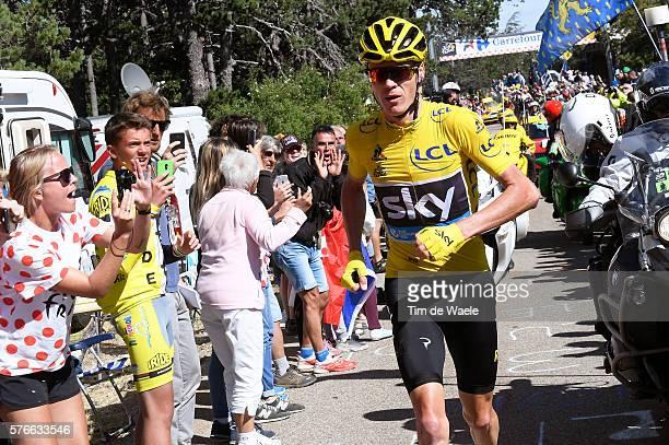 103th Tour de France 2016 / Stage 12 Christopher FROOME Yellow Leader Jersey / Mechanical Problem Broken Bike / Montpellier Mont Ventoux / Chalet...