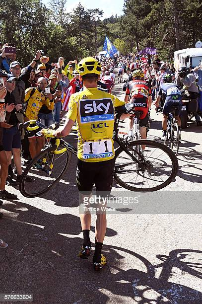 103th Tour de France 2016 / Stage 12 Christopher FROOME Yellow Leader Jersey / Mechanical Problem Broken Bike / Montpellier - Mont Ventoux / Chalet...