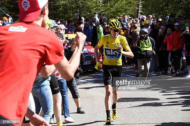 103th Tour de France 2016 / Stage 12 Christopher FROOME Yellow Leader Jersey / Mechanical Problem Broken Bike / Montpellier Mont Ventoux / Chalet...