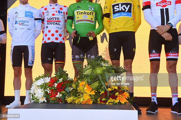 103th Tour de France 2016 / Stage 13 Illustration / Podium / Christopher FROOME Yellow Leader Jersey/ Thomas DE GENDT Polka Dot Mountain Jersey /...