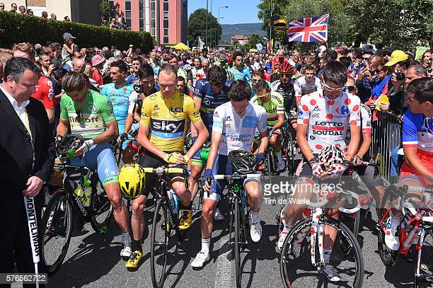 103th Tour de France 2016 / Stage 14Start / Peter SAGAN Green Sprint Jersey / Christopher FROOME Yellow Leader Jersey/ Adam YATES White Best Young...