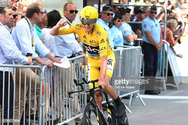 103th Tour de France 2016 / Stage 18 Arrival / Christopher FROOME Yellow Leader Jersey / Celebration / Sallanches - Megeve 1095m / Time Trial ITT /...
