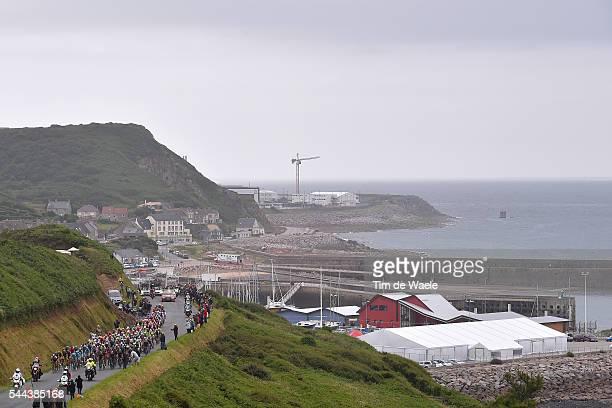 103th Tour de France 2016 / Stage 2 Illustration / Landscape / Peloton / Sea / Dielette / SaintLo CherbourgenCotentin / TDF /