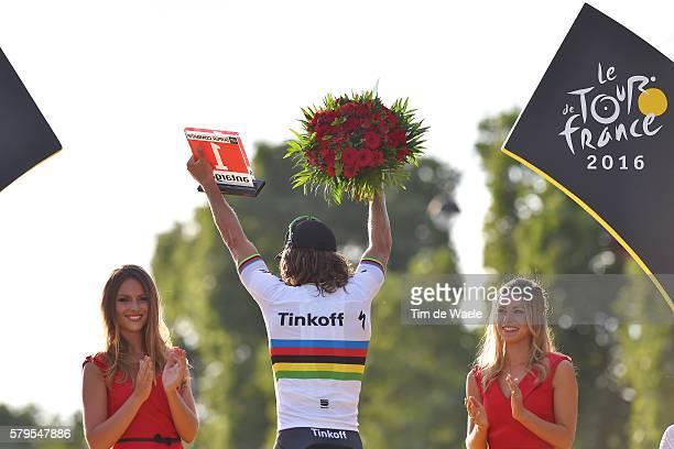 103th Tour de France 2016 / Stage 21 Podium / Peter SAGAN Most Combative Rider Celebration / ROUSSE Marion / Chantilly - Paris Champs-Elysees / TDF /