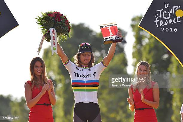 103th Tour de France 2016 / Stage 21 Podium / Peter SAGAN Most Combative Rider Celebration / ROUSSE Marion / Chantilly Paris ChampsElysees / TDF /