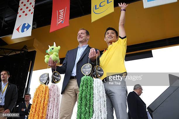 103th Tour de France 2016 / Stage 3 Podium / Christian PRUDHOMME Tour de France Director ASO / SAITAMA Criterium / Japan / Thousand Paper Cranes...