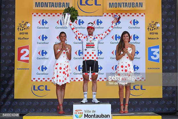 103th Tour de France 2016 / Stage 6 Podium / Thomas DE GENDT Polka Dot Mountain Jersey / Celebration / ArpajonsurCere Montauban / TDF /