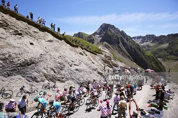 103th Tour de France 2016 / Stage 8 Illustration / Peloton / Col du Tourmalet 2115m Mountains / Landscape / Pau BagneresdeLuchon / TDF /