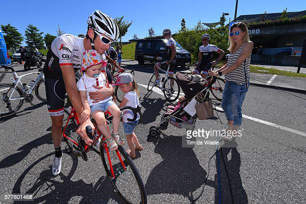 103th Tour de France 2016 / Training Team Trek Segafredo Frank SCHLECK / Martine SCHLECK Wife/ Leea SCHLECK Nayla SCHLECK daughters / Training Team...