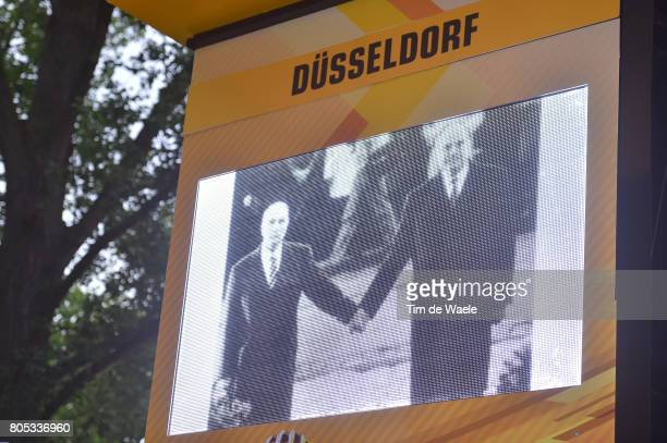 104th Tour de France 2017 / Stage 1 Podium / Illustration / In memory of Helmut KOHL Former German Chancellor/ Francois MITTERAND Ex French...