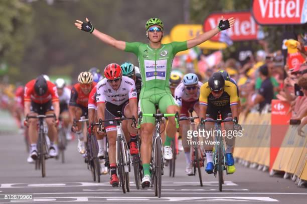 104th Tour de France 2017 / Stage 10 Arrival / Marcel KITTEL Green Sprint Jersey Celebration / John DEGENKOLB / Alexander KRISTOFF / Dylan...