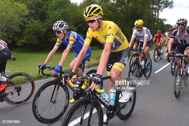 104th Tour de France 2017 / Stage 10 Christopher FROOME Yellow Leader Jersey/ Daniel MARTIN / Perigueux - Bergerac / TDF/