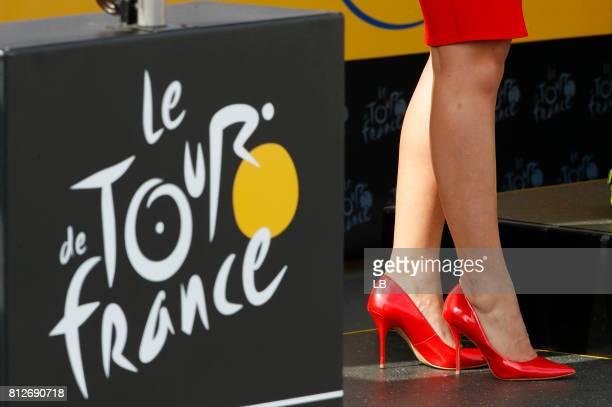 104th Tour de France 2017 / Stage 10 Podium / Logo / Miss Hostess / Legs / Perigueux Bergerac / TDF /