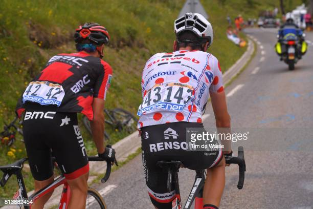 104th Tour de France 2017 / Stage 12 Damiano CARUSO / Warren BARGUIL Polka Dot Mountain Jersey / Renson/ Pau Peyragudes 1580m / TDF/