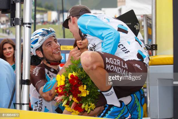 104th Tour de France 2017 / Stage 12 Podium / Romain BARDET / Axel DOMONT / Celebration / Pau Peyragudes 1580m / TDF /