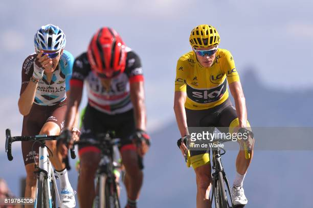 104th Tour de France 2017 / Stage 18 Arrival / Romain BARDET / Christopher FROOME Yellow Leader Jersey / John Darwin ATAPUMA / Briancon IzoardCol...