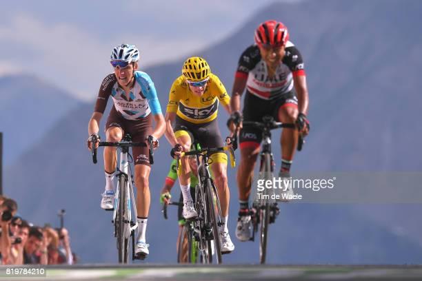 104th Tour de France 2017 / Stage 18 Arrival / Romain BARDET / Christopher FROOME Yellow Leader Jersey / John Darwin ATAPUMA / Briancon IzoardCol...