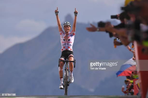 104th Tour de France 2017 / Stage 18 Arrival / Warren BARGUIL Polka Dot Mountain Jersey / Briancon IzoardCol d'Izoard 2360m / TDF /
