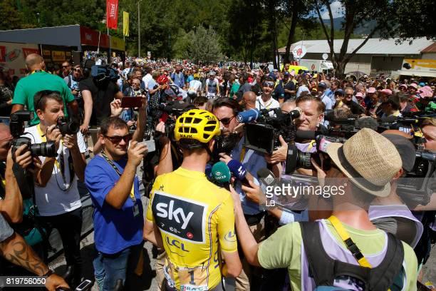 104th Tour de France 2017 / Stage 18 Christopher FROOME Yellow Leader Jersey / Interview / Press / Media / Briancon IzoardCol d'Izoard 2360m / TDF /